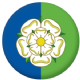 Yorkshire East Riding County Flag 58mm Button Badge